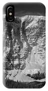 1m3769 Bw East Face Mt Kitchner IPhone Case
