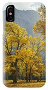 1m6611-oak Trees And Middle Cathedral Rock In Autumn IPhone Case