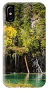 Autumn At Hanging Lake Waterfall - Glenwood Canyon Colorado IPhone Case