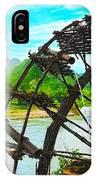 Bamboo Water Wheel IPhone Case