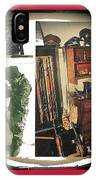 Barry Sadler And Part Of His Weapon's Nazi Memorabilia Collection Collage Tucson Arizona 1971-2013 IPhone Case