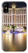Bellagio Hotel On Nov, 2017 In Las Vegas, Nevada,usa. Bellagio I IPhone Case