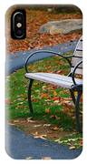 Bench On The Walk IPhone Case by Rick Morgan