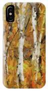 Birch Trees In Autumn IPhone Case