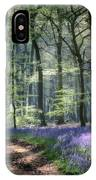Bluebell Path IPhone Case