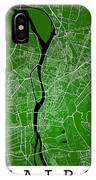 Cairo Street Map - Cairo Egypt Road Map Art On Colored Backgroun IPhone Case