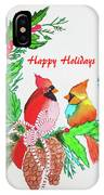Cardinals Painted By Judith Brilhamte IPhone Case