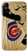 Chicago Cubs Baseball Team Vintage Card IPhone Case