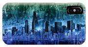 Chicago Skyline Abstract IPhone Case