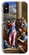 Christ Driving The Money Changers From The Temple IPhone Case