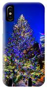 Christmas Tree Near Panther Stadium In Charlotte North Carolina IPhone Case