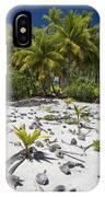 Coconut Palms On A Polynesian Beach IPhone Case
