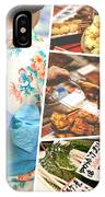 Collage Of Japan Food Images IPhone Case