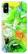 Colored Glass Beads On White Background IPhone Case