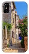 Colorful Mediterranean Stone Street Of Prvic Island IPhone Case