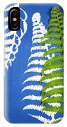 Cyanotype Print, Fern IPhone Case