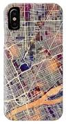 Detroit Michigan City Map IPhone Case