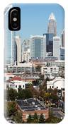 Downtown Charlotte North Carolina From The South End IPhone Case