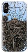 2 Eagles On Nest  3172b  IPhone Case