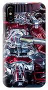 Engine Compartment Of Chromed Camaro IPhone Case