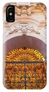 Entrance Of The Syracuse Baroque Cathedral In Sicily - Italy IPhone Case