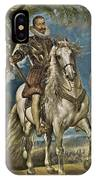 Equestrian Portrait Of The Duke Of Lerma IPhone Case