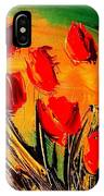Flowers Modern Abstract Fine Art Canvas IPhone Case