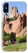 Garden Of The Gods Ten Mile Run In Colorado Springs IPhone Case