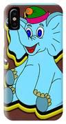 Happy Blue Elephant IPhone Case