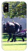 Horse And Caisson Team At Arlington Cemetery IPhone Case