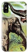 Indian Elephant, Endangered Species IPhone Case