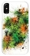 Ireland Map Paint Splashes IPhone Case