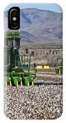 John Deere Cotton Pickers Harvesting IPhone Case