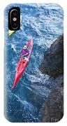 Kayaking Along Coastline IPhone Case