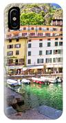 Limone Sul Garda Turquoise Harbor Panoramic View IPhone Case