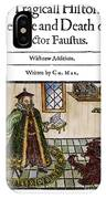 Marlowes Doctor Faustus IPhone Case