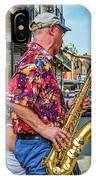 New Orleans Jazz Sax  IPhone Case