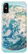North Pole 3d Render Planet Earth Clouds IPhone Case