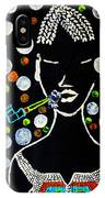 Nuer Lady With Pipe - South Sudan IPhone Case