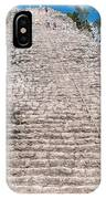 People Climbing Nohoch Mul At The Coba Ruins  IPhone Case