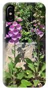 2 Pink Bell Flowers. Foxglove IPhone Case