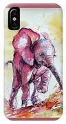 Playing Elephant Baby IPhone Case