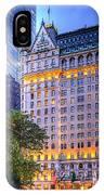 Plaza Hotel IPhone Case