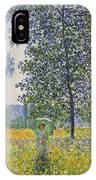 Poplars In The Sunlight IPhone Case