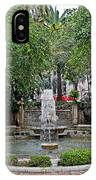 Public Fountain And Gardens In Palma Majorca Spain IPhone Case