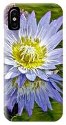 Purple Water Lily Pond Flower Wall Decor IPhone Case
