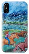 Racing The Lightning Home IPhone Case