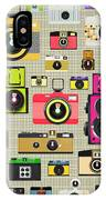 Retro Camera Pattern IPhone Case