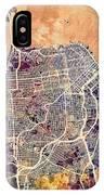 San Francisco City Street Map IPhone Case