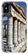 Segesta Greek Temple In Sicily, Italy IPhone Case